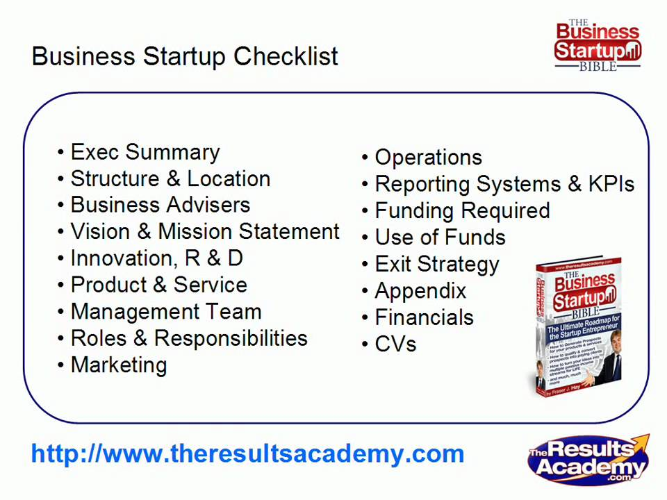 Small business startup checklist small business plan for Start up business plans free templates