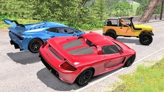 Street Racing Crashes #6 - BeamNG Drive | CrashBoomPunk