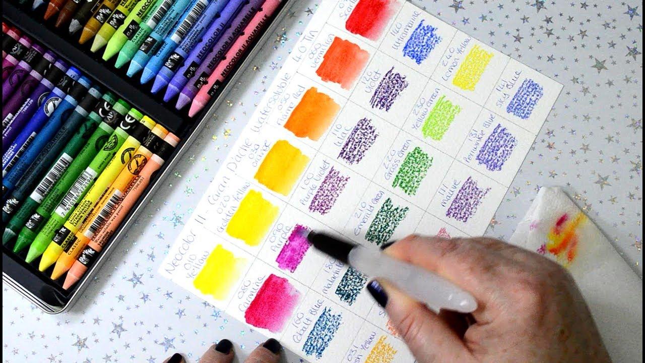 site réputé 29b7c 535c3 Making Neocolor II Colour Swatches Caran d'Ache Watersoluble Wax Pastels