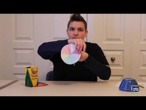 Newton colour wheel science experiment