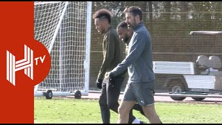 Alexandre Lacazette trains with Arsenal ahead of Rennes clash