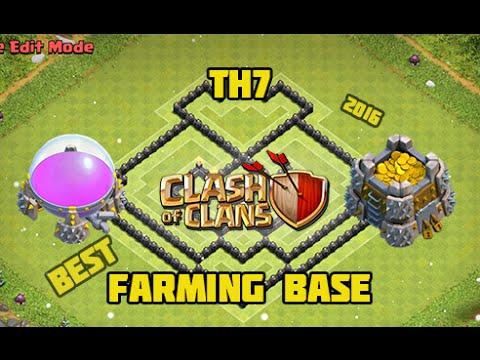 Th7 farming base 2016 3 types king amp no king youtube