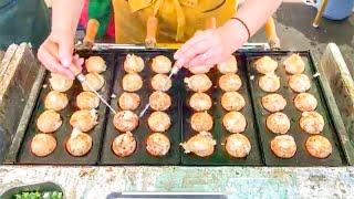 Street Food Japan: Takoyaki (no edit) たこ焼き