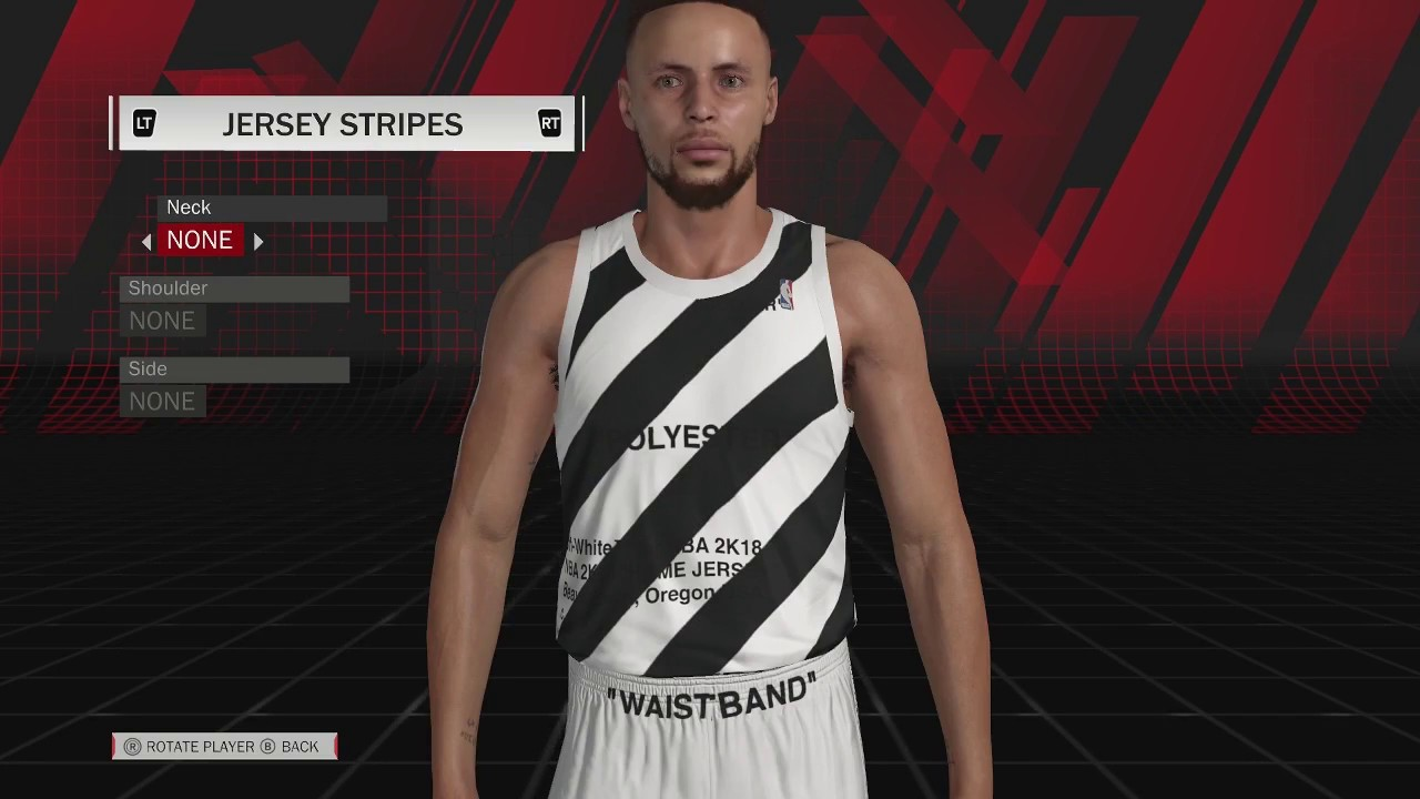 OFF WHITE COURT AND JERSEYS IN NBA 2K18