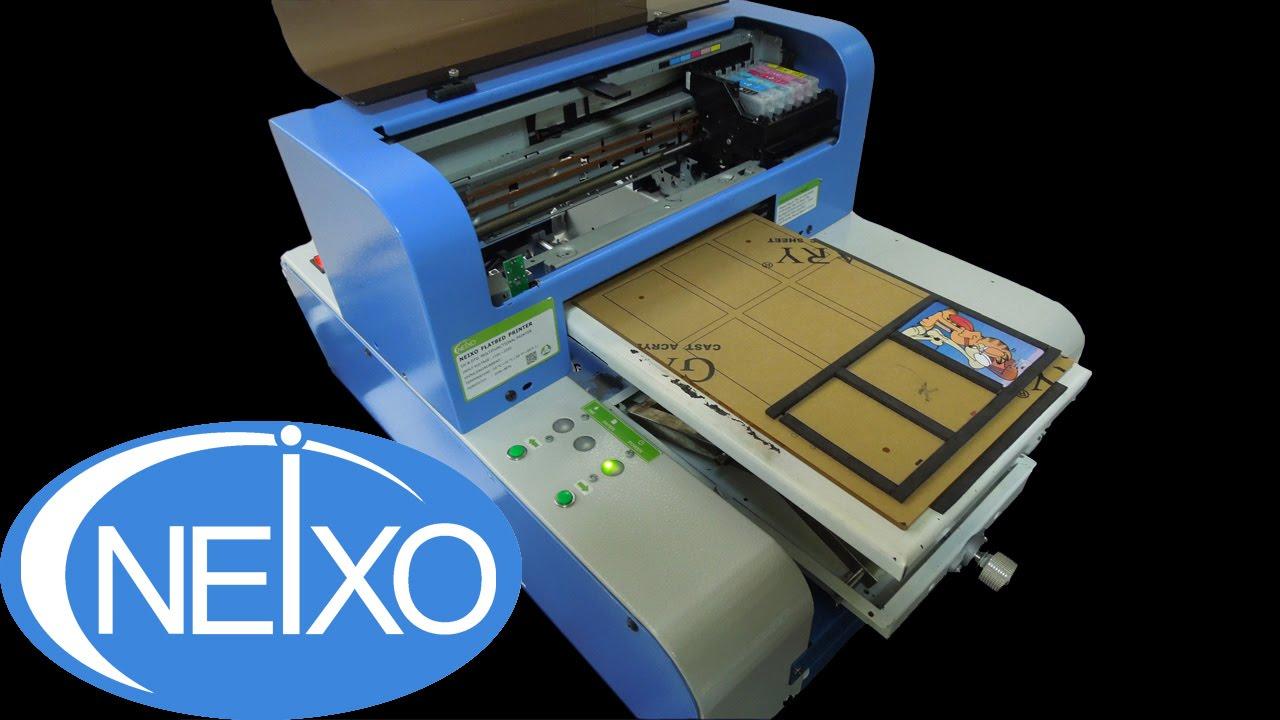 digital inkjet a4 flatbed printer for credit card and usb flash pendrive - Credit Card Printer