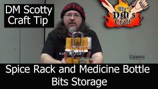 Craft Tip Spice Rack And Medicine Bottle Bits Storage