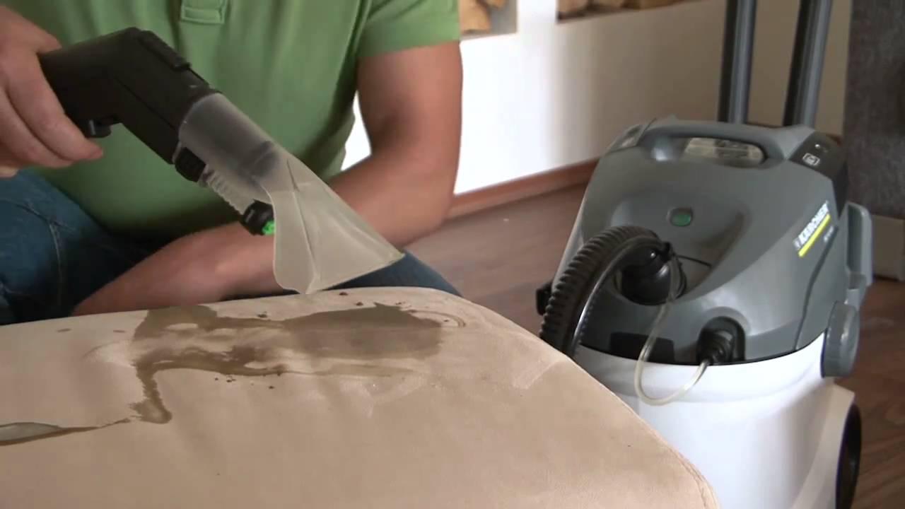 Stoffen Stoel Schoonmaken : Kärcher tapijtreiniger maakt iedere bank met minder moeite grondiger