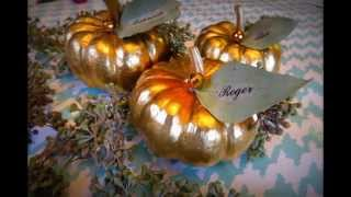 Diy Pumpkin Place Cards - Thanksgiving Table
