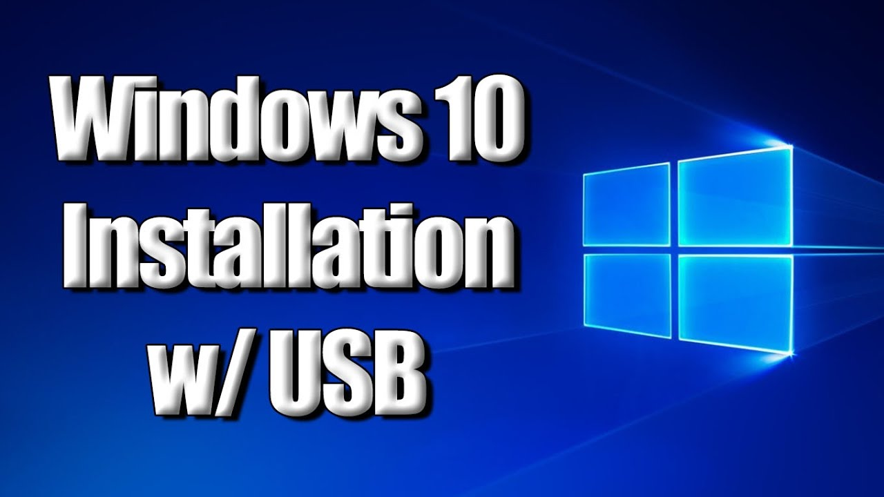 how to install windows 10 on a usb drive