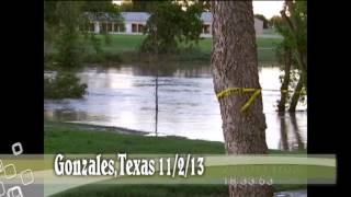 Gonzales,Texas River Flood 2013