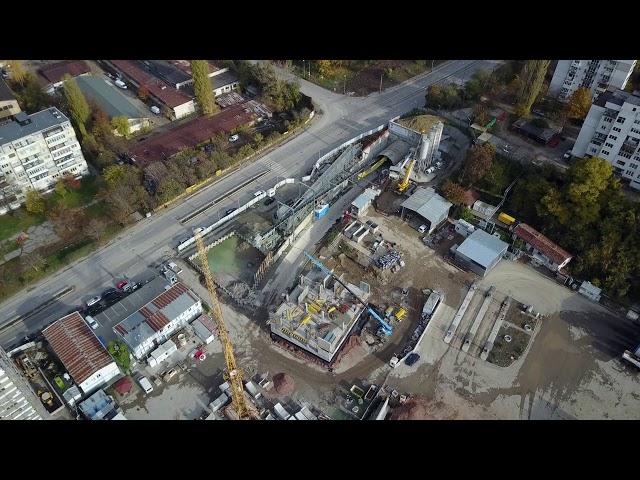 Строежа на третата метро линия в София - 11.11.2017