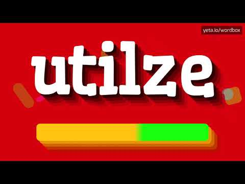 HOW PRONOUNCE UTILZE! (BEST QUALITY VOICES)