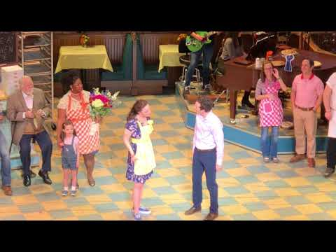 Waitress Curtain Call Sara Bareilles' first return performance + singing Bad Idea with Jason Mraz