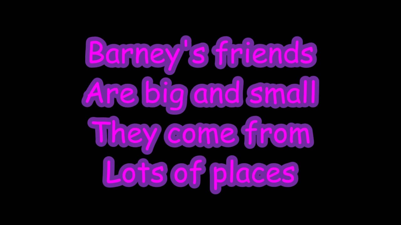 Barney Theme Song Lyrics Youtube