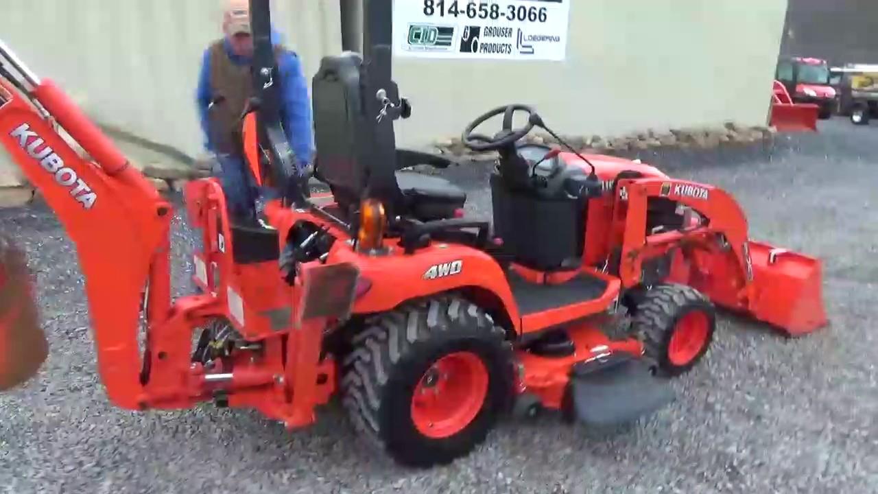 2014 Kubota Bx25d Compact Tractor Loader Backhoe Belly