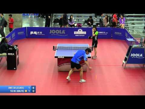 2012 JOOLA/NATT Teams Quarterfinal Match 4 - Yue (Jennifer) Wu vs Diwei Shi