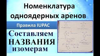 Ароматические углеводороды (Арены). Номенклатура (практика). Ч.2.