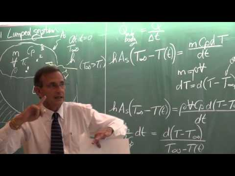 Lecture 03 (2014): Unsteady heat transfer. Lumped system
