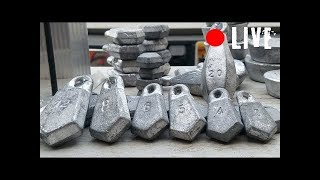 Making Sinkers for Fishing - The Easy and Cheap Way - LIVE with Luke