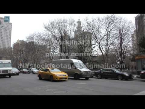 Manhattan Civic Center_70 #4K #Broadway #City Hall #traffic #Police  #people #Taxi #bus