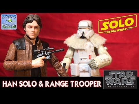 Han Solo & Range Trooper Star Wars Black Series Hasbro from Solo: A Star Wars Story
