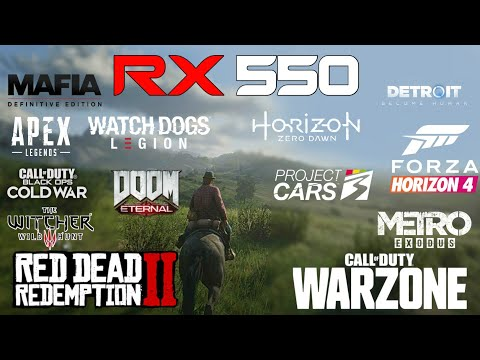RX 550X in 2021 // Test Top 20 Games | 1080p, 1440p, 4k |