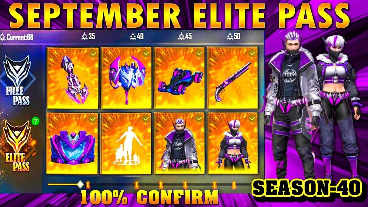 september elite pass free fire 2021 Season 40 ELITE PASS Full Video   September elite pass free fire