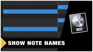 How to Show Note Names in the Piano Roll (Logic Pro X)