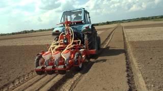 СоюзБелАгро: Посев в гряду овощей сеялкой Olimpia Gaspardo