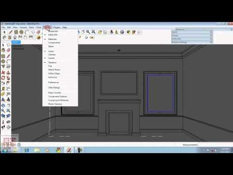 Google Sketchup Tutorial 07-Vray Light & Interior Settings (English)