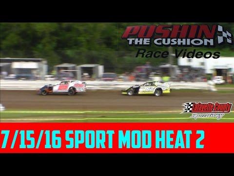 Lafayette County Speedway 7/15/16 Sport Mod Heat 2