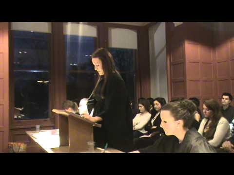 University of Reading Mooting Final 2012 (Part 1).