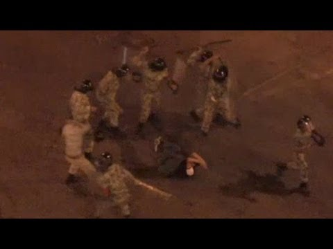 Egyptian Army Beating Protester