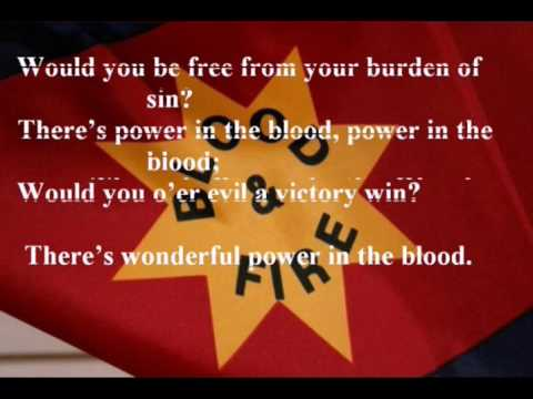 There is Power in the Blood Lyrics - Hallelujah Choruses (The Salvation Army Band)
