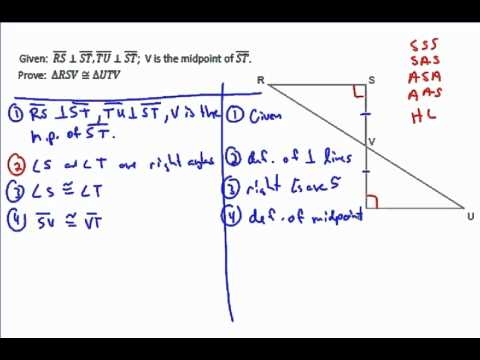 Triangle Example Proof 3 - YouTube