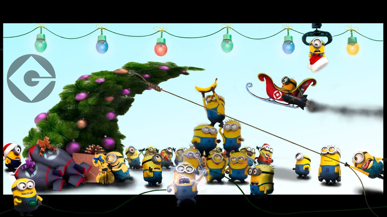 Minions preparing for christmas 2014 - YouTube