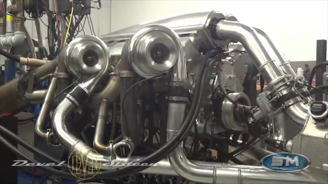 Watch A Ridiculous 123 Liter Quad Turbo V 16 Dyno At 5007 Horsepower
