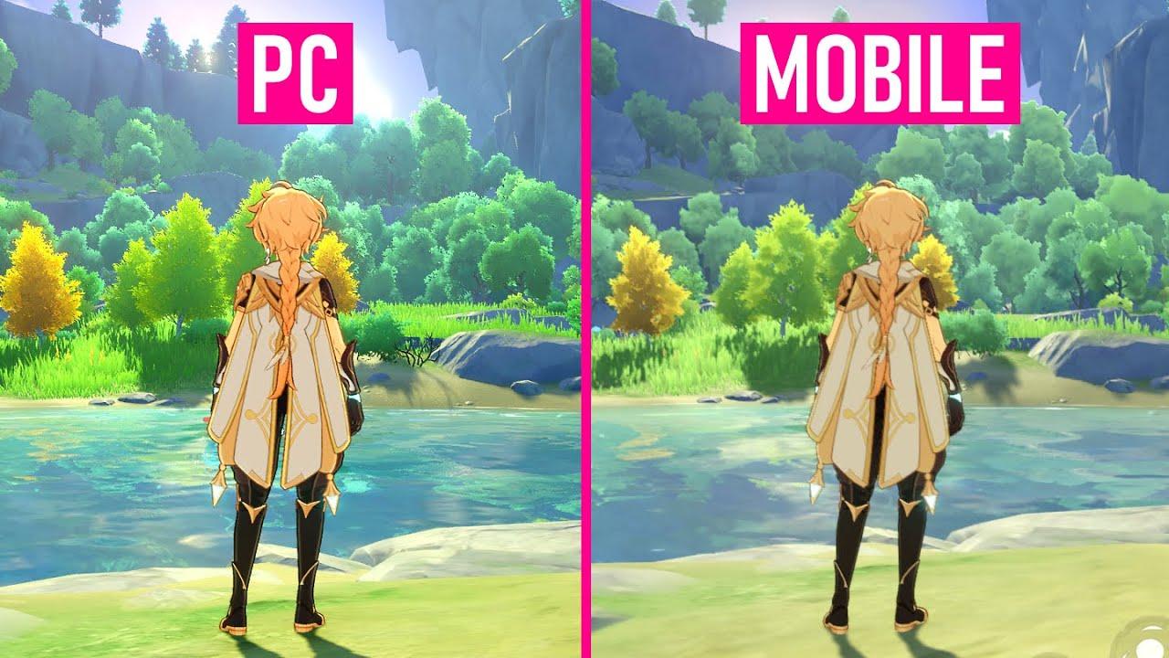 Genshin Impact Pc Vs Mobile Ultra Graphics Comparison Youtube