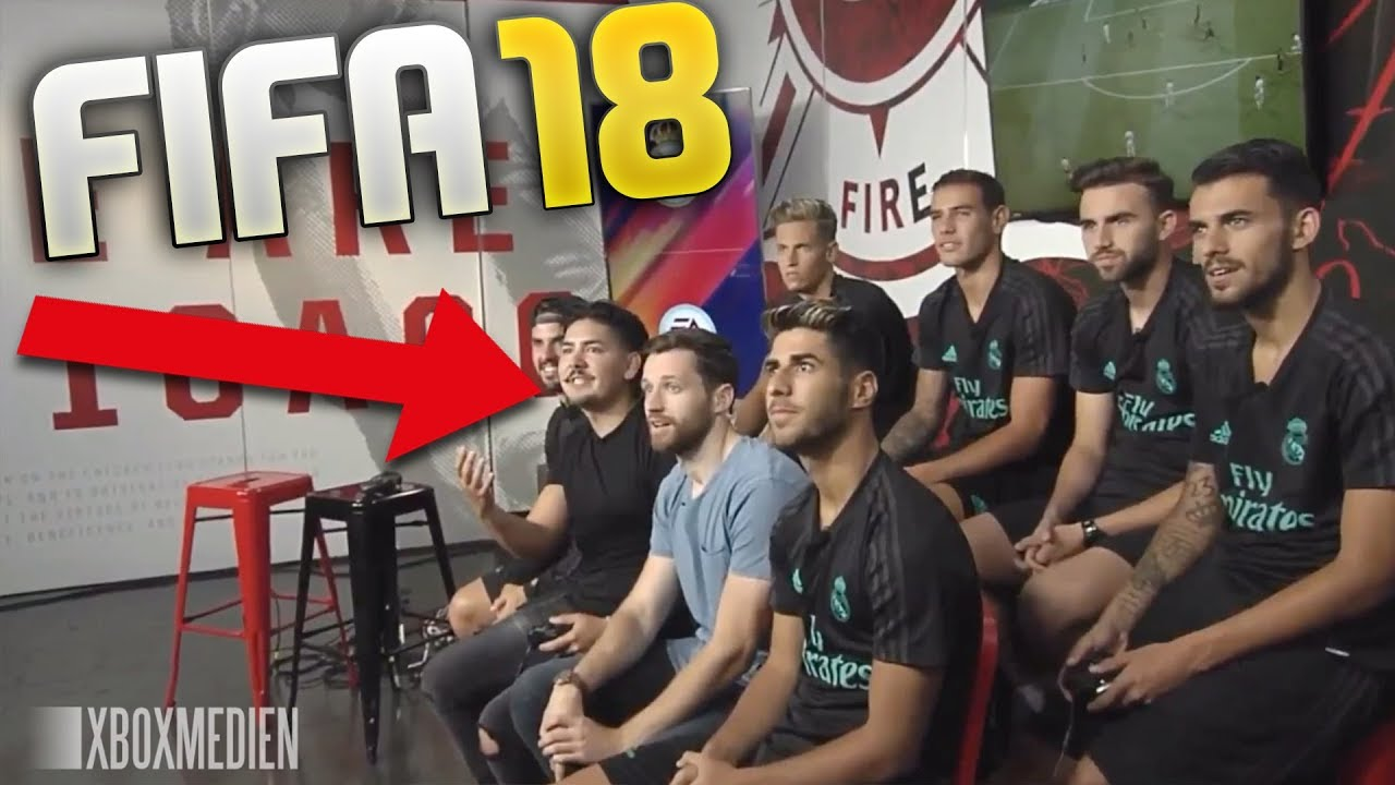 f7b62bd6653 Real Madrid Players play FIFA 18 with Spencer   Castro - YouTube