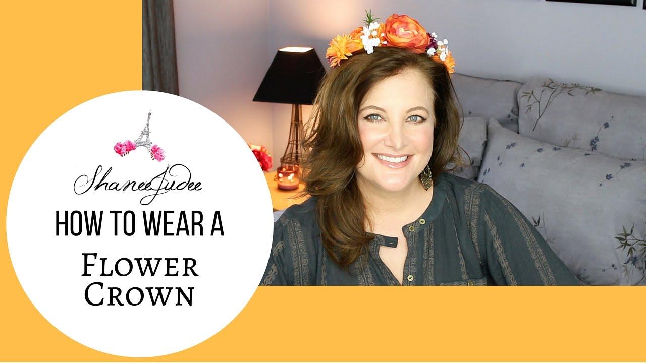 How To Wear A Flower Crown Shaneejudee Youtube