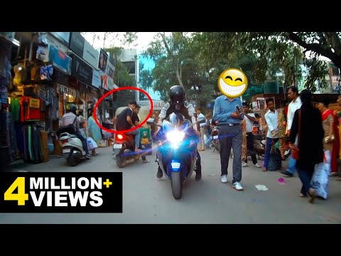 Riding Hayabusa in Market | Public Reactions!!