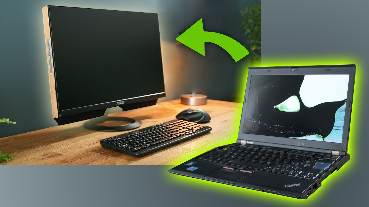 Transform a Damaged Laptop into an ALL-IN-ONE desktop PC