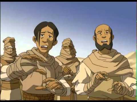 Aang goes HAM against sandbenders