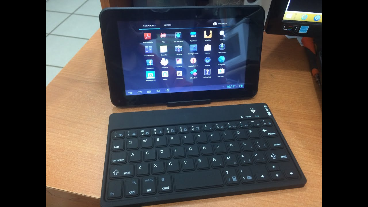 Tablet 7 smartab con teclado bluetooth y funda youtube - Funda teclado bluetooth ...