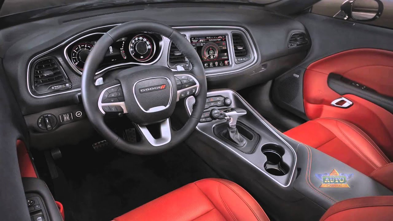 2016 Dodge Challenger Sxt Plus >> 2015 Dodge Challenger Interior Overview - YouTube
