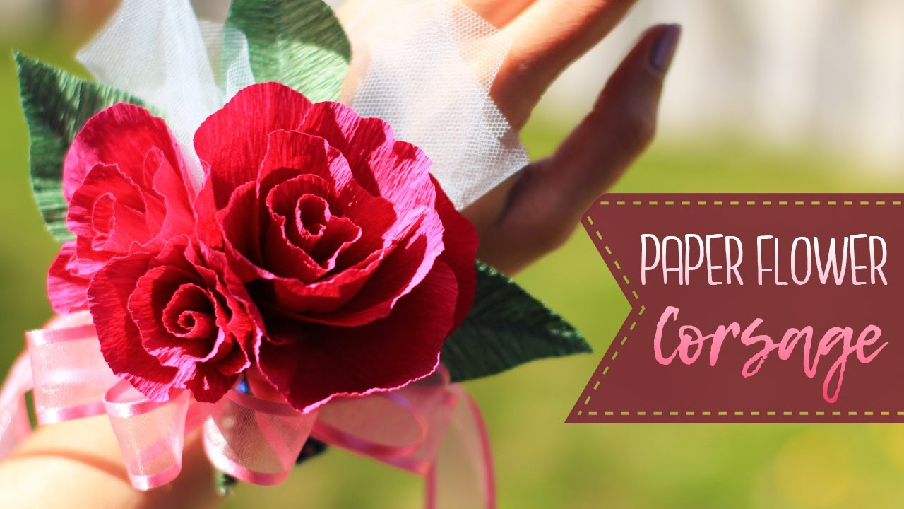 How To Make A Crepe Paper Flower Corsage Youtube