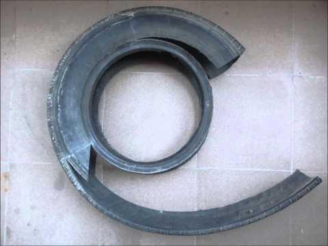 видео: Мой талант - изготовление поделок из старых шин.