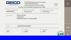 car insurance card