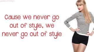 Taylor Swift - Style (Lyrics) Video