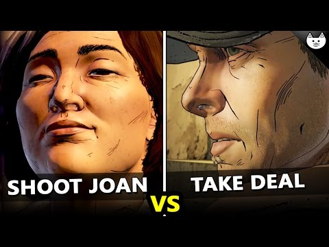Shoot Joan Vs Take The Deal - The Walking Dead Game Season 3 Episode 4 Choices Difference Check